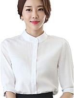 Chemise Femme,Couleur Pleine Mosaïque Décontracté / Quotidien Travail Grandes Tailles simple Eté ½ Manches Mao Lin Polyester Fin