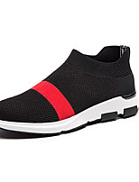 Men's Athletic Shoes Spring Comfort Tulle Casual Black/Red Black