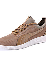 Men's Sneakers Comfort Light Soles Pigskin Spring Summer Athletic Casual Outdoor Comfort Light Soles Flat Heel Black Gray Almond Flat