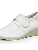 Mujer-Tacón Cuña-Confort-Zapatos de taco bajo y Slip-Ons-Informal-Cuero-Blanco