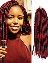 14inch 18inch Faux Locs Crochet Braids Twist Extensions fauxlocs hair African Braiding Kanekalon Soft Dread Locks synthetic hair braiding 1pc