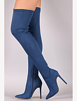 Women's Boots Spring Fall Club Shoes Denim Party & Evening Dress Stiletto Heel Zipper