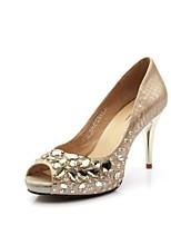 Femme-Décontracté--Talon Aiguille-Confort-Chaussures à Talons-Autre Peau d'Animal