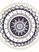 1pc Couverture de Voyage Pliable Antibactérien Élastique pour Repos de Voyage Polyester-Blanc