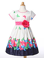 Girl's Going out Casual/Daily Holiday Floral Dress,Polyester Summer Short Sleeve
