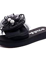 Damen-Sandalen-Kleid Lässig-PU-Flacher Absatz-Komfort-