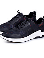 Men's Sneakers Spring Fall Comfort Fabric Casual Lace-up Black