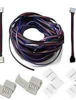 Un ensemble de bandes enfichables connecteurs trousses complètes en bandes pour enrouler le cavalier connecteur d'angle en forme de l rgb