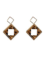 Fashion Women Square  Shape   Acrylic  Drop Earrings