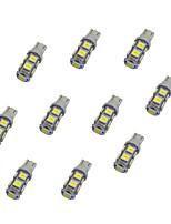 10Pcs T10 9*5050 SMD LED Car Light Bulb White Light DC12V