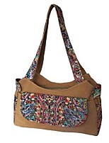 Mujer Lienzo Casual Tote Marrón