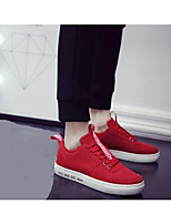 Men's Sneakers Comfort Light Soles Canvas Casual Red Gray Black