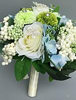 Bouquets de Noiva Redondo Rosas Buquês Casamento Cetim Strass 11.02