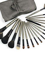 1 Set Makeup Brush Set Goat Hair Portable Full Coverage Wood Face Eye Lip