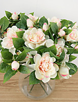 1 Une succursale Polyester Gardénia Fleur de Table Fleurs artificielles