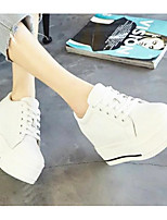 Women's Sneakers Spring Comfort PU Casual Black White