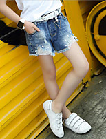 Girls' Casual/Daily Sports Solid Print Jeans-Cotton Summer