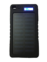 Lcd-8000 8000mah lcd banco de la energía 5v1a impermeable con el recargador solar para el teléfono móvil