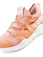 Women's Sneakers Spring Summer Comfort Light Soles Tulle Outdoor Casual Low Heel Blushing Pink Red Gray Black