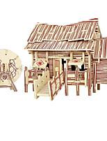 Puzzles Puzzles 3D Blocs de Construction Jouets DIY  Bâtiment Célèbre Bois Maquette & Jeu de Construction