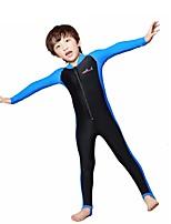 Детские Гидрокостюм мокрого типа Дышащий Быстровысыхающий Сжатие видеоизображений Чинлон Водолазный костюм Длинные рукава Гидрокостюмы-