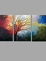 Hand-Painted 3 Piece/set Scenery Oil Painting For Home Decoration With Stretched Frame Ready To Hang