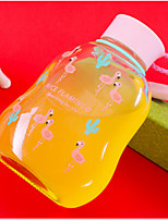 300ml Cartoon Portable Glass Water Juice Bottle