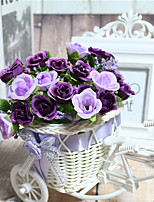 1 Branch Dried Flower Daisies Violet Tabletop Flower Artificial Flowers