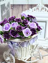 1 Une succursale Fleur séchée Lotus Fleur de Table Fleurs artificielles