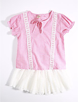 Girls' Casual/Daily Plaid Sets,Cotton Summer Clothing Set