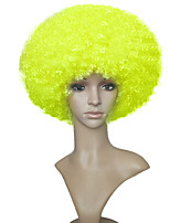 Afro Funs Wig Circus Yellow Color Wig Clown Cosplay Wig Hallowen Adult Costume Wig