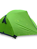 3-4 personnes Tente Double Tente pliable Une pièce Tente de camping >3000mm Fibre de verre Oxford Etanche Portable-Randonnée Camping-Vert