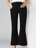 מכנסיים צ'ינו strenchy רזה חיתוך נעל גיזרה גבוהה אחיד פָּשׁוּט סגנון רחוב נשים