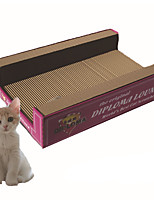 Cat Toy Tubes & Tunnel Scratch Pad Durable Paper Blushing Pink Red
