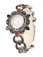 Mulheres Bracele Relógio Quartzo Lega Banda Prata