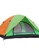 3-4 personnes Tente Double Tente pliable Une pièce Tente de camping 2000-3000 mm Fibre de verre Nylon OxfordRésistant à l'humidité