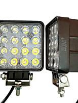Ziqiao 1pcs 4 pouces 48w led lumière de travail pour les indicateurs moto conduisant hors route bateau voiture tracteur camion 4x4 suv atv