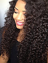 10-26 Inch Glueless Lace Front Kinky Curly Wig Brazilian Human Virgin Human Hair  Wig with Baby Hair