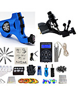 Complete Tattoo Kit G2R1R7P 2 Rotary machines liner & shader Lion LED power supply Ink Cups