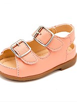 Kids' Baby Sandals First Walkers Cowhide Summer Casual First Walkers Flat Heel Gold White Blushing Pink Flat