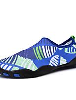 Для мужчин Мокасины и Свитер Светодиодные подошвы Пара обуви Ткань Весна Лето Для прогулок Дышащая спортивная обувь На плоской подошве