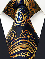 UXL10  Classic Mens Necktie Navy Blue Paisley 100% Silk Business Fashion Handmade