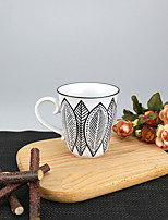 250ml Tribal Big Leaf Patern High Temperature Porcelain Mug