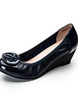 -Для женщин-Повседневный-Полиуретан-На танкетке-Удобная обувь-Мокасины и Свитер