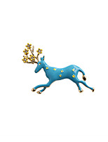 Fashion Trendy Cute Enamel Running  Elk  Metal brooch