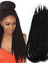 Ombre braided synthetic braiding 3D Cubic Twist synthetic Crochet Braids 22inch kanekalon Hair Crochet Twist Box Braids Hair 6-8pieces make full head