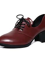 נשים-עקבים-דמוי עור-סוליות מוארות נעלי מועדון--שטח משרד ועבודה יומיומי-עקב עבה