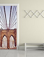 Architecture Wall Stickers 3D Wall Stickers Decorative Wall Stickers,Vinyl Material Home Decoration Wall Decal