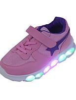 Синий Розовый-Мальчики-Повседневный Для занятий спортом-Полиуретан-На плоской подошве-Удобная обувь-Спортивная обувь