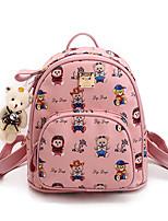 Women Backpack PU All Seasons Formal Casual Outdoor Office & Career Shopping Bucket Zipper Black Blushing Pink Gray Yellow